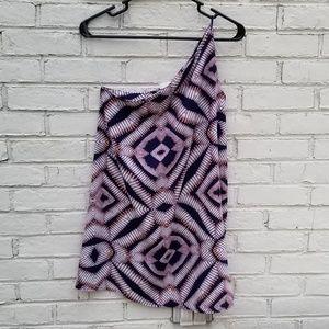 LIKE NEW One-shoulder Patterned Dress
